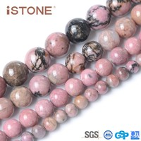 Wholesale 12 mm Rhodonite Round Loose gemstone Beads for jewelry making