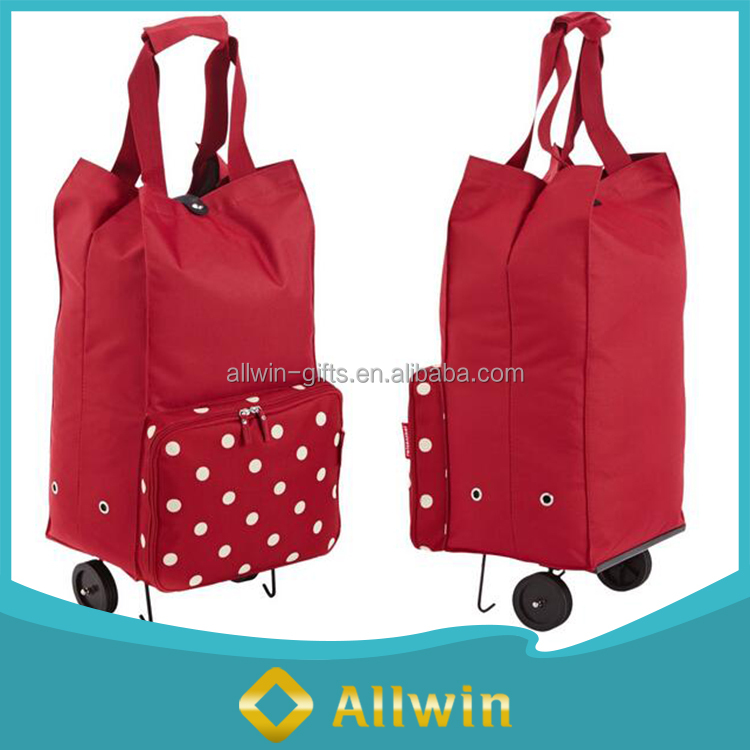 Durable Tote Nylon Foldable Shopping Trolley Bag