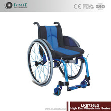 buy wheelchair LKE736LQ,aluminum frame,detachable armrest,fixed footrest,solid castor,quick release,rear wheel