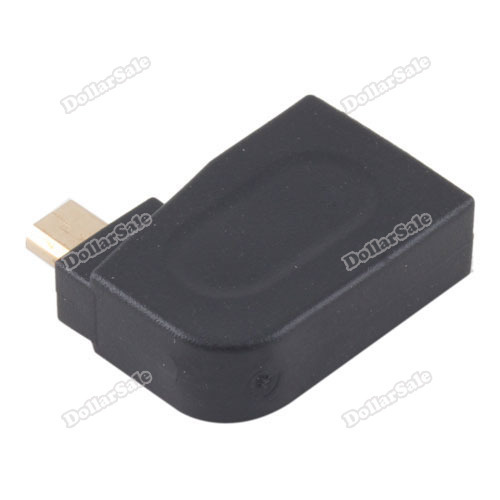 Classical! dollarsale Right Angle HDMI Female to Micro HDMI Male Adapter Connector M F Coupler High Quality Lower price