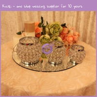 k7405 Crystal beads candle holder, Small candle holder for wedding centerpiece supplier