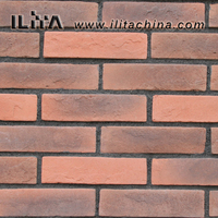 Red thin brick for cladding wall,Artificial Wall Cladding Tiles,Culture Stone(YLD-20044)