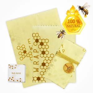 Eco-friendly sustainable washable FDA certified GOTS organic cotton beeswax food wrap