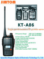 7W UHF two way radio JIMTOM KT-A86 UHF 400-470MHz long range walkie talkie