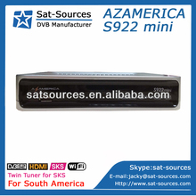 Twin Tuner HD Satellite Receiver Azamerica S922 for South America