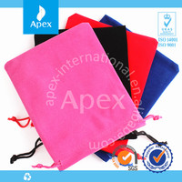 Velvet cheap custom drawstring bags