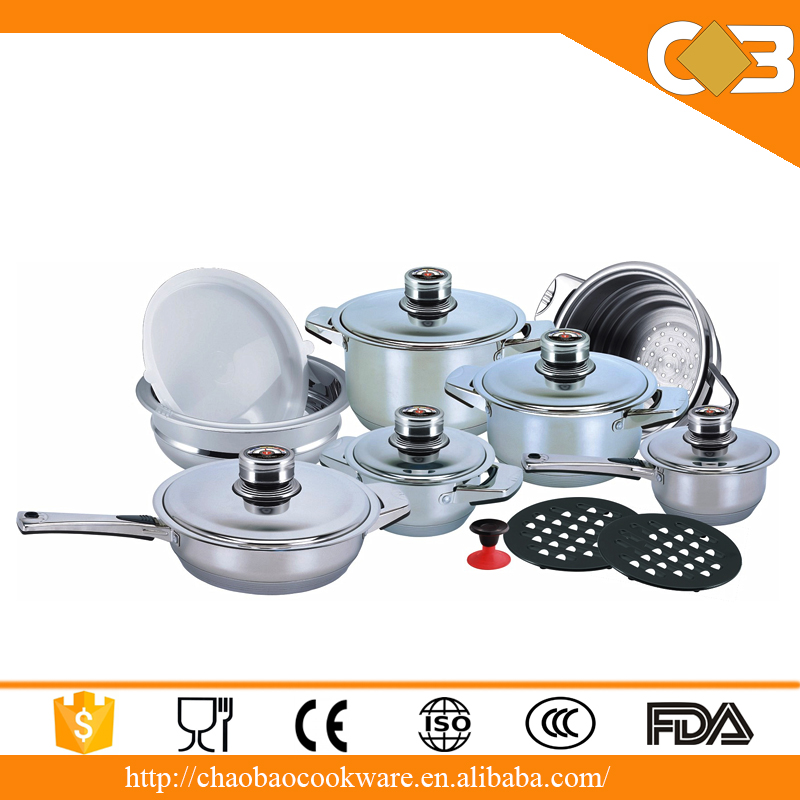 Kitchen wares made in china 16pcs stainless steel kitchen for Buy kitchen cookware