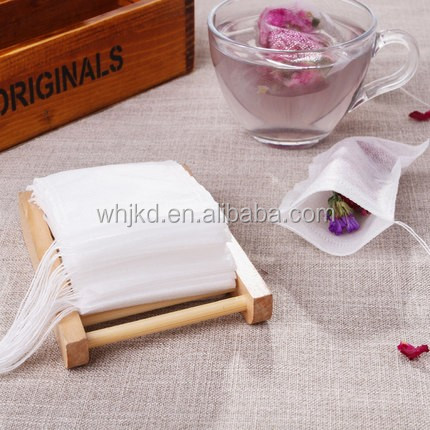 Promotional custom non woven empty tea bags filters with string