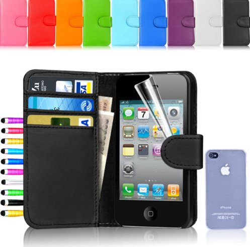Hot selling wallet flip leather mobile Phone case cover for Apple iPhone 5 5S