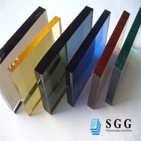 high quality reflective coating colored tempered glass manufacture