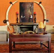 Elephant Oil painting design canvas printing wall art for living room home decorative cheapest price china