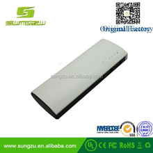 Customized capacity elegant torch light power bank 20000mah strong light charger