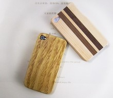 wooden case for iphone 4,,custom printed phone case,for iphone wood case custom