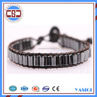 Jewelry black hematite gemstone health men bracelet