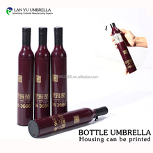 Mini super light windproof wine bottle folding hang umbrella wholesale