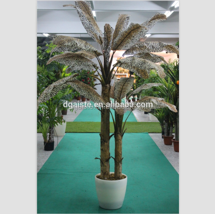 fake plastic panther texture printed banana tree bonsai