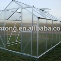 Large Garden Aluminium Greenhouse With Polycarbonate