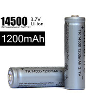 AA 3.7V Nominal Voltage 14500 1200mah li ion rechargeable battery for Mini Bright Rechargeable Q5 Flashlight AA battery