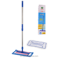 telescopic stainless steel handle fibre cloth fiber rope flat mop