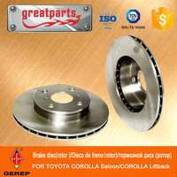 China famous OEM Factory for TOYOTA COROLLA brake disc rotors