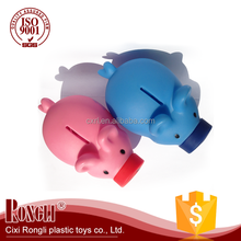 Custom factory manufacture colorful mini pig shaped red piggy bank