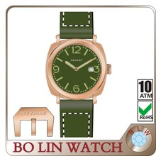 copper watch 50 atm, German brass CuSn8 case/Italy genuine leather/mechanical/sapphire crystal/10ATM