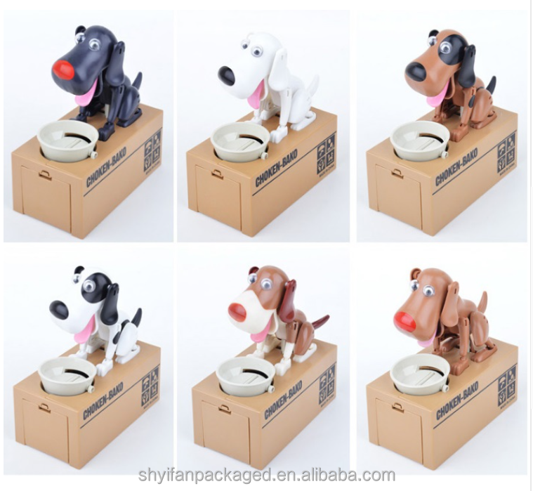 Sturdy choken bako robotic dog coin bank carton box