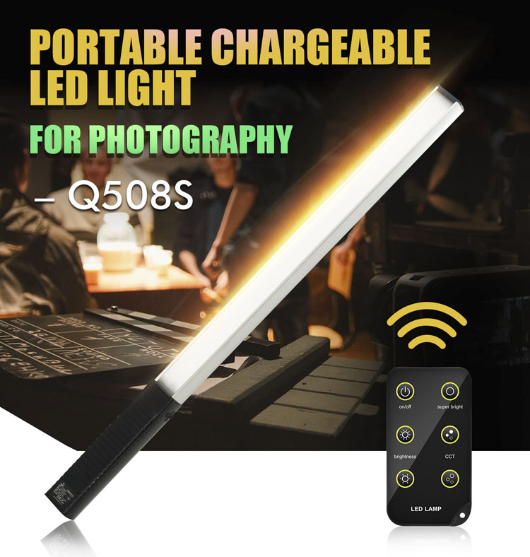 3000K/5700K Bi-color Photographic Lighting Remote Control LED Studio Video Stand Light Stick