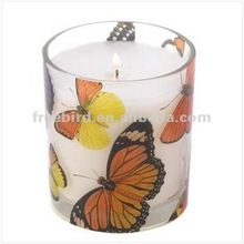 butterfly scented soy candle, big candles