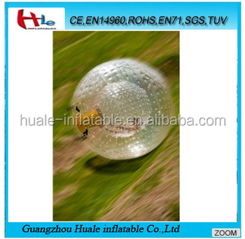 Grass inflatable football bubble ball,inflatable soccer zorb ball
