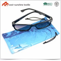 Plain Cloth eyewear Pouch,microfiber Sunglasses Pouch With Drawstring