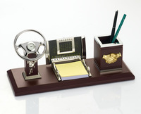 With Name Card and Pen Holder Wooden Desktop Gifts