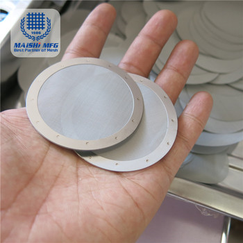 Decorative Circular Mesh Filter Disc