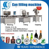 Pop can filling and capping machine for Carbonated beverage