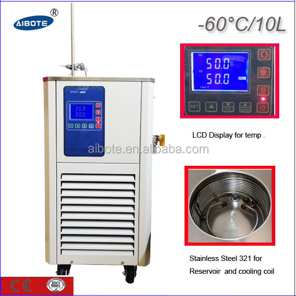 10L,-60 degree 110v 60Hz low Temp circulating bath refrigerated circulators