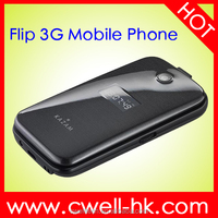 Unlocked 2.4 inch KAZAM Life C6 WCDMA 3G Feature flip china mobile phone