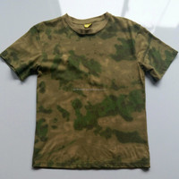 short sleeve O-neck A-TACS FG combat camouflage t shirt