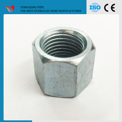 best quality hydraulic hose fittings zinc bsp jic pipe fittings union connector m22 hex nut