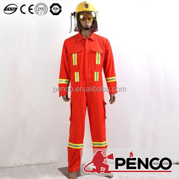 Dupont Nomex coverall, safety fireman suit, flame retardant coverall
