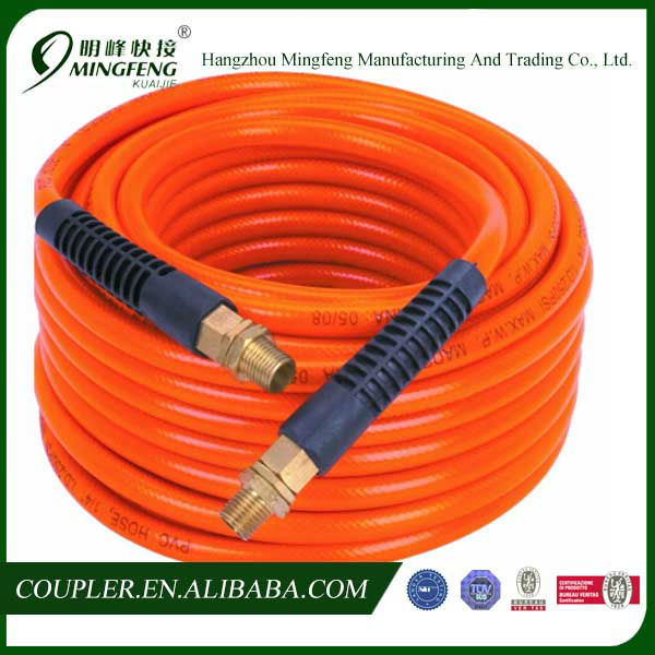 Antiwear Flexible Orange PVC Pipe with Fitting