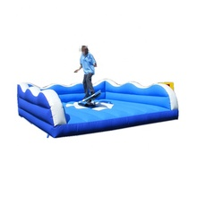 Cheap inflatable sport game inflatable surf simulator with mattress / mechanical surfboard
