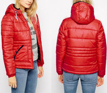 2014 Latest design high quality wholesale women fashion red winter coats