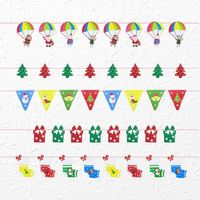 Customized Christmas Decorative Party Triangle Cheap