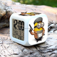 Colorful Calendar Color Changing Free Desktop Digital Clock, Cube Table Light, Table Alarm Clock with LED Light