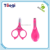 2015 cute shape safety care baby nail scissors set
