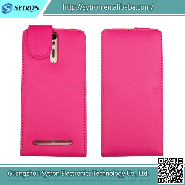 High Quality Wholesale Leather Flip Case For Sony Xperia S Lt26I