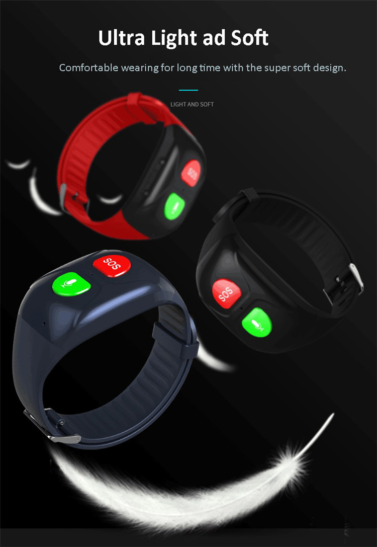 2019 newest elder sos calling band GPS tracker with heart rate and blood pressure detection