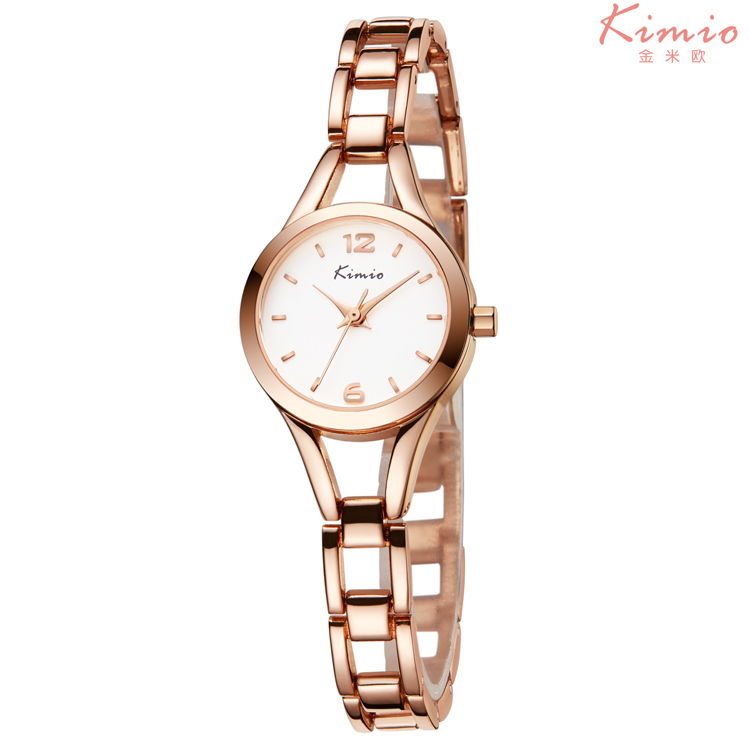 KMO 6106 Fashion Women Brand Watch Casual Ladies Dress Jewelry Quartz Watch Rose Gold Steel Bracelet Wristwatch Relogio Feminino