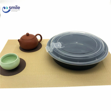 Custom made disposable plastic food packaging container rice bowl