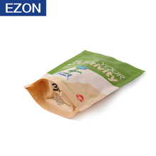 low cost kraft pouch biodegradable food package paper bag for purchaser